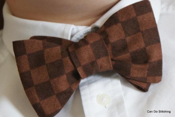 Mens Bow Tie Brown