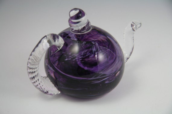 Teapot sculpture in glass
