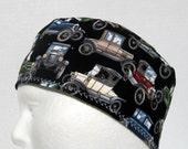 Vintage Cars Mens Scrub Hat or Skull Cap