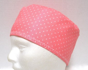Pink Scrub Hat, Surgical Cap or Chemo Hat