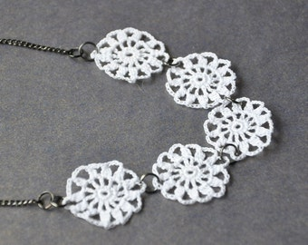 White Doilies Necklace