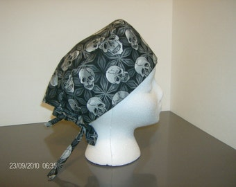 Skulls and Stars Surgical Scrub Cap
