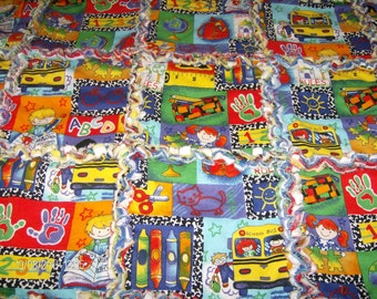 School Days Rag Quilt