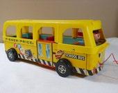 Vintage Fisher Price 1960s Wood School Bus Toy 984 Sale