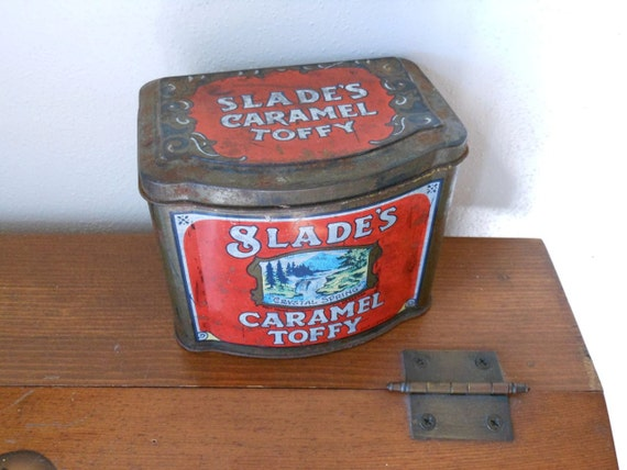 Slades Caramel Toffy Tin 1960s