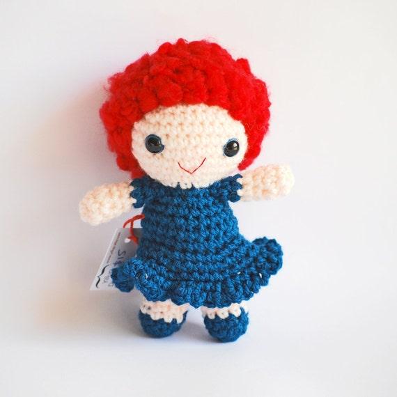 Items similar to CHLOE - Crochet Amigurumi Doll Red Hair ...