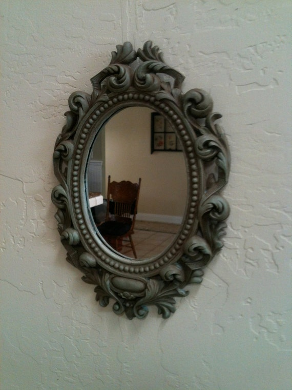 Vintage Mirror with Antiqued Finish