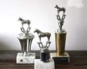Vintage Trio of Horse Trophies