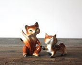 Vintage Fox Salt and Pepper Shakers