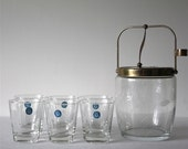 75% OFF SALE Vintage Sasaki Barware Set