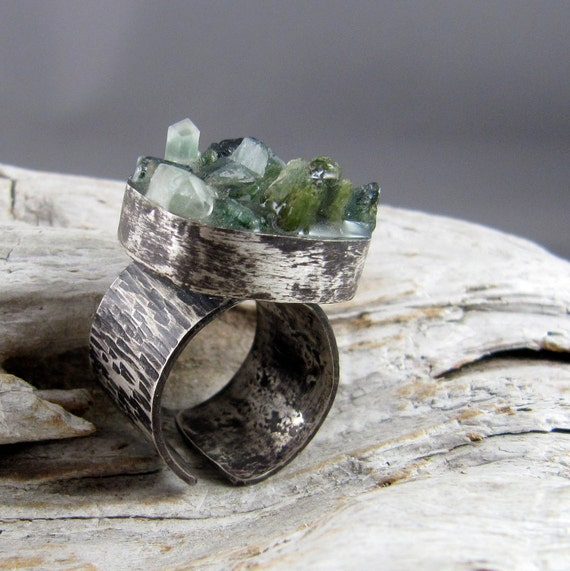 Tourmaline Raw Crystal Ring