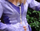 Purple Flower Faerie Hoodie - Women's S/M or Teen 14-16