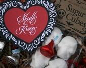Skulls & Kisses - Holiday Gift Sugar Cube Skull Gift Set Skulls for Lovers