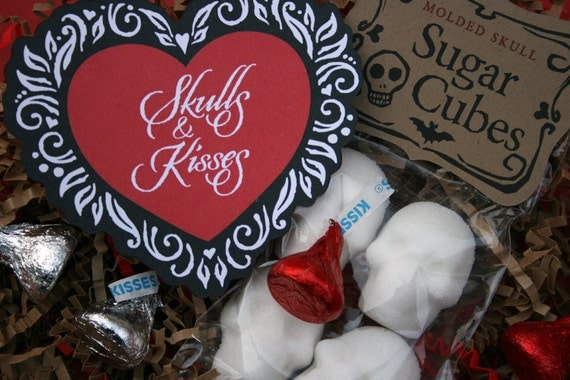 Skulls & Kisses - Holiday Gift Sugar Cube Skull Gift Set Skulls for Lovers