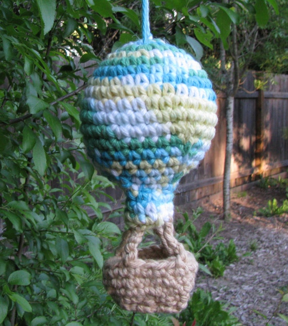 Crocheted Hot Air Balloon Small