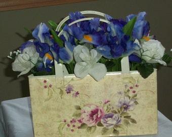 Silk Floral Purse Centerpiece