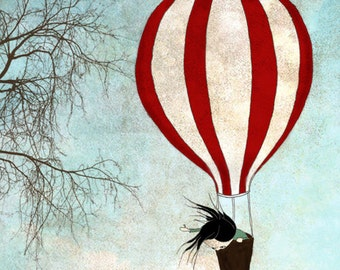 Up in the sky - Art print (3 different sizes)