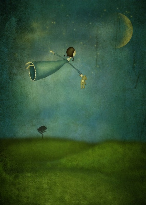 Fly me to the moon - Art print (3 different sizes)