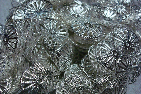 LOT 1000 end beads (findings) Silver plated