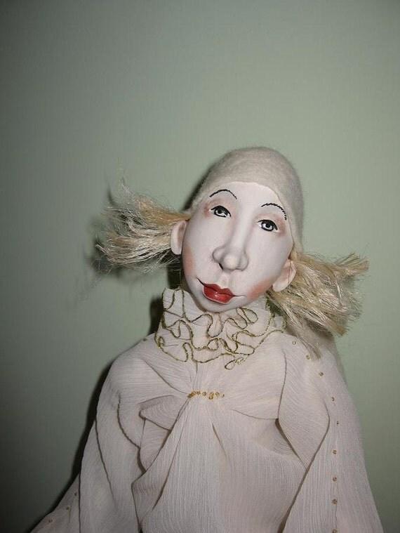 Angel Pierre Art doll OOAK Paper clay doll Handmade art dolls