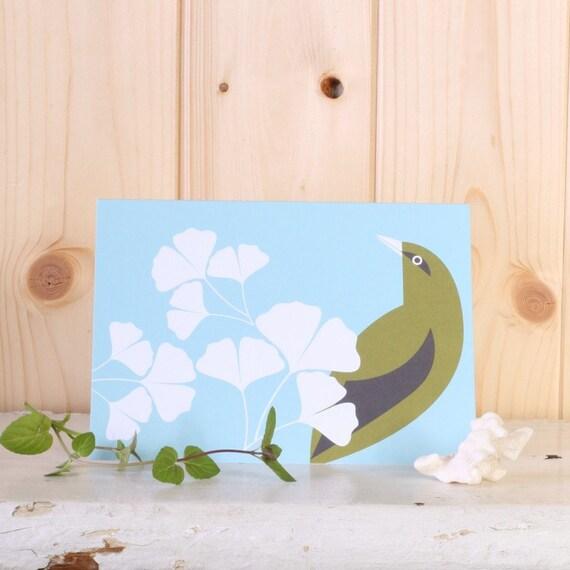 Ginkgo Garden Blue Card