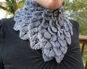 CROCHET PATTERN: Crocodile Stitch Neckwarmer - Permission to Sell Finished Product