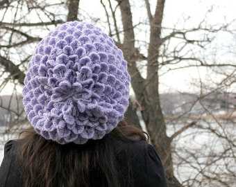 CROCHET PATTERN: Crocodile Stitch Slouchy Beret - Permission to Sell Finished Product