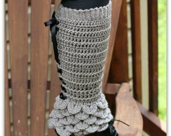 Crochet PATTERN Crocodile Stitch Legwarmers - Permission to Sell Finished Items