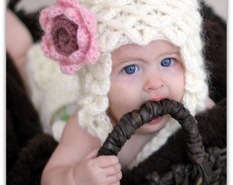 CROCHET PATTERN: Crocodile Stitch Earflap Hat (5 Sizes) - Permission to Sell Finished Product