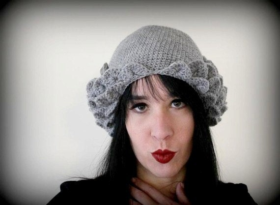 CROCHET PATTERN: Crocodile Stitch Flapper Hat - Permission to Sell Finished Product