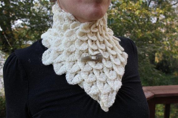 Crocodile Stitch Neckwarmer - Crochet PDF Pattern - Permisison to Sell Finished Items