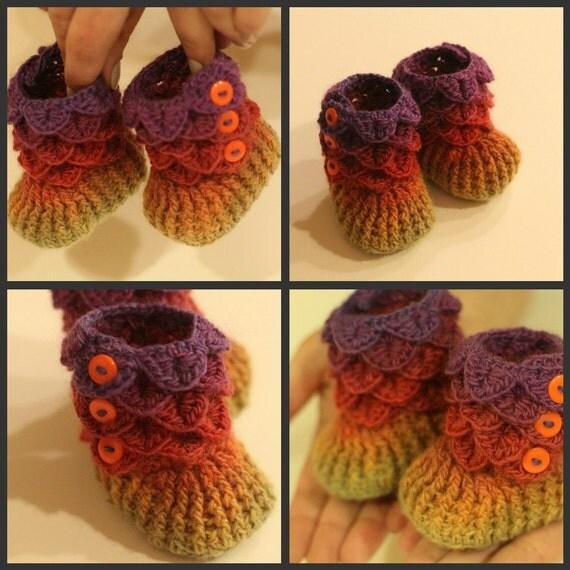 crochet pattern chaussons de b b au point crocodile tailles b b permission to sell. Black Bedroom Furniture Sets. Home Design Ideas
