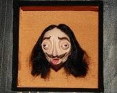 King Charles I framed sculpture
