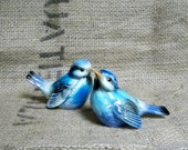 Vintage Pair of Goebel Blue Bird Figurines . 1970s. West Germany.