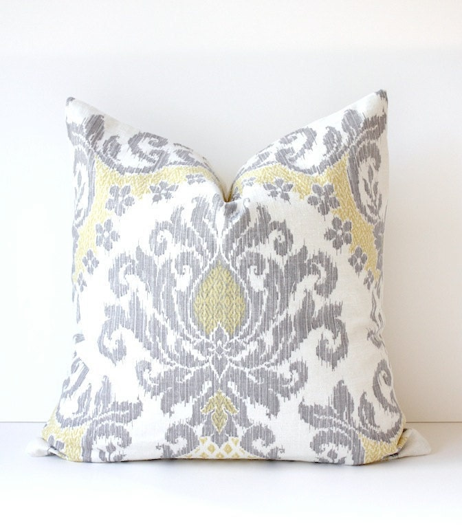 Ikat Modern Decorative Designer Pillow Cover 20 New Gray