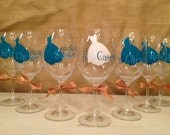 Wedding Party Wine Glasses- Set of 5