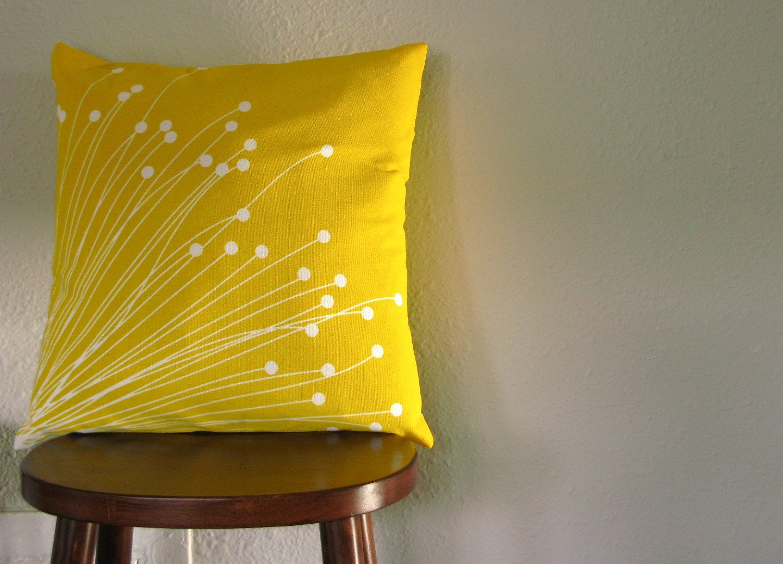 Britta Yellow Throw Pillow