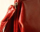 SALE--Red Vintage Handbag