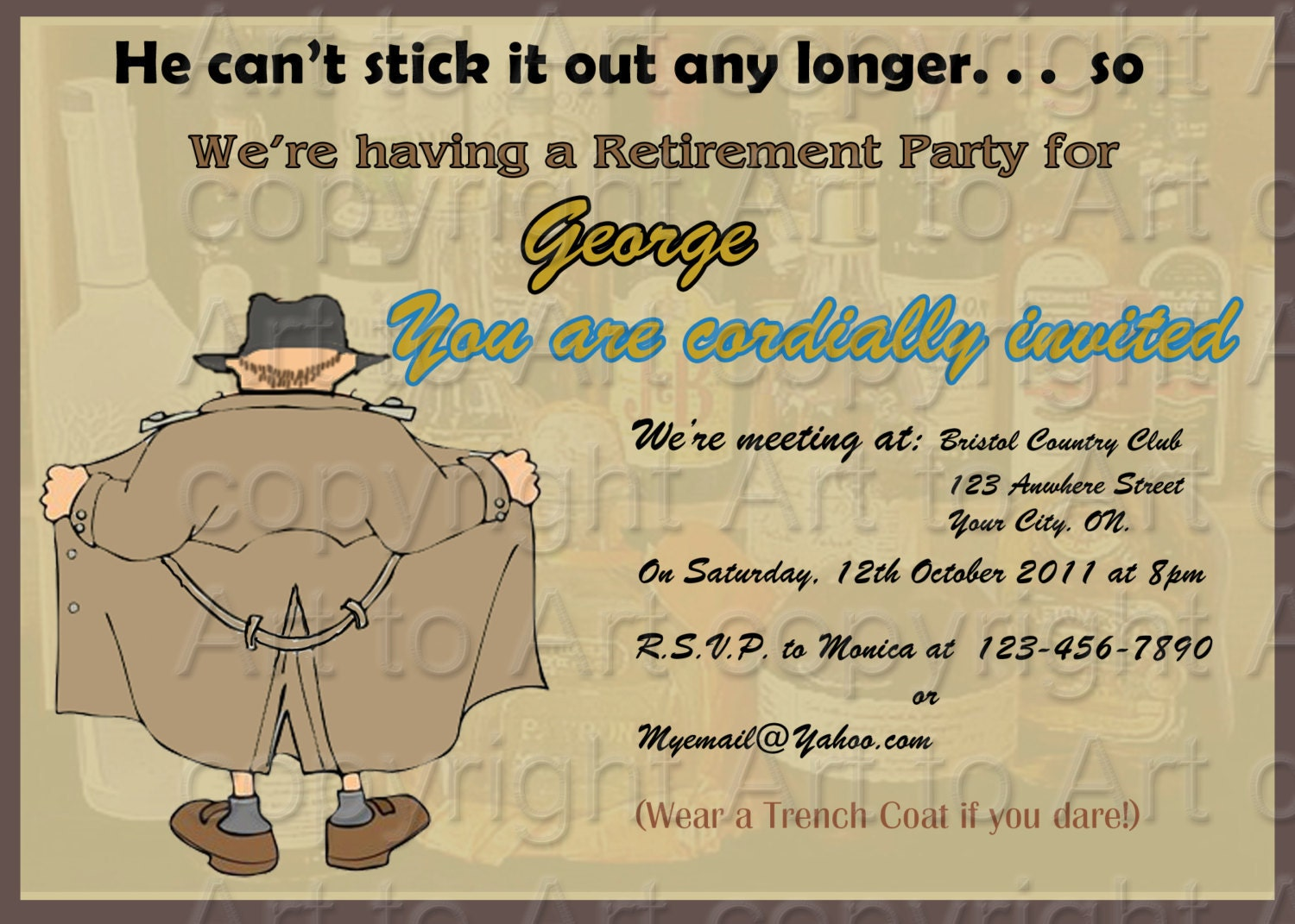 Retirement party Invitation 180 personalized Digital You
