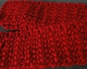 Cincinnati Red Scarf (crocheted) FREE shipping