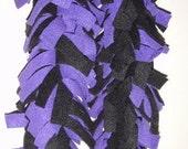 Adult-Purple and Black Fleece Scarf (Baltimore Ravens)