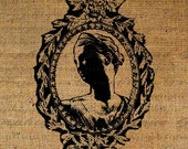 Neo Classical Female Head Sculpture Frame Digital Image Download Transfer To Pillows Tote Bags Tea Towels Burlap No. 1027