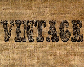 Antique Vintage Script Text Typography Old World Writing Digital Image Download Transfer To Pillows Tote Tea Towels Burlap No. 1359