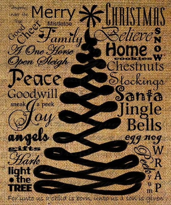 abstract christmas tree xmas text typography digital image. Black Bedroom Furniture Sets. Home Design Ideas