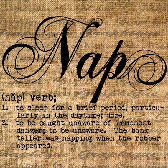 Items Similar To Dictionary Definition Word Nap Typography