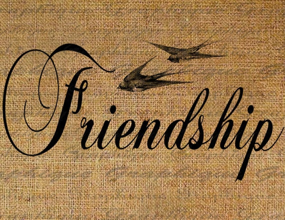 Items similar to Friendship Friends Birds Flying Bird Word ...
