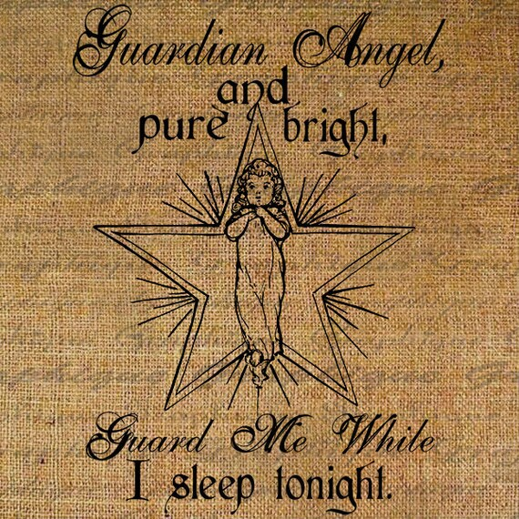 Baby Guardian Angel Quotes: Guardian Angel Quote Baby Nursery Sleep Prayer Child By