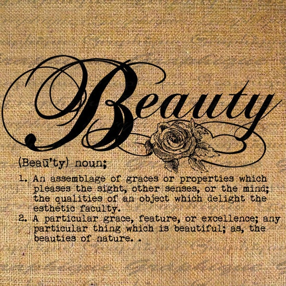 Definition Beauty Text Typography Words Digital Image By