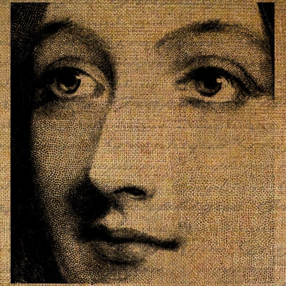 Giant Woman Face Close Up Abstract Modern Art Digital Image Download Transfer To Pillows Tote Tea Towels Burlap 3590