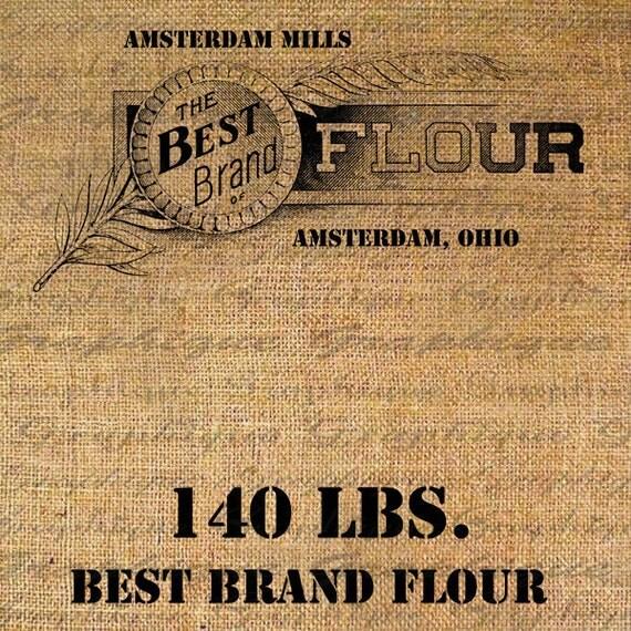 Items Similar To Vintage Best Brand Flour Sack Label Text